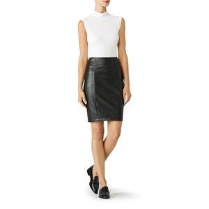 Paper Crown Vegan Leather Pencil Skirt 4 HighWaist